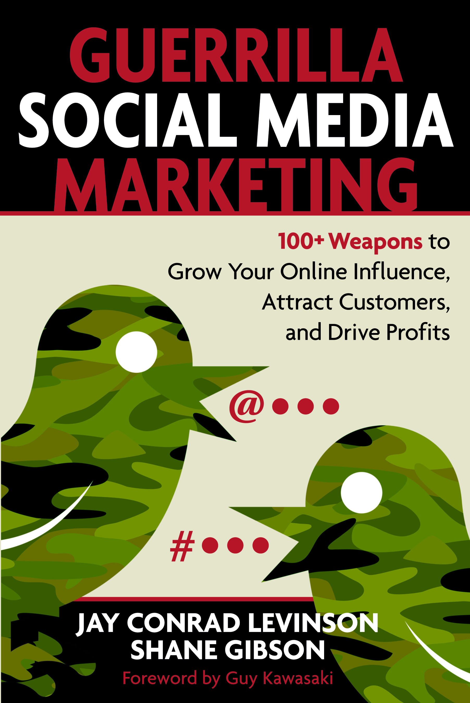 "Grow Your Online Influence--Go Guerrilla Equipping you with action plans, implementation steps and more than 100 marketing weapons, Jay Conrad Levinson, The Father of Guerrilla Marketing, and social media expert Shane Gibson teach you how to combine the timeless principles of guerrilla marketing with the latest social media applications and networks. Discarding overwhelming statistics, buzzwords and acronyms, Levinson and Gibson provide a step-by-step social media attack plan. Following their take-no-prisoners guerilla approach, you'll learn how to identify unconventional social media opportunities, engage customers, motivate action, and capture profits away from your competitors. Includes: * 19 secrets every guerrilla social media marketer needs to know * The Guerrilla Social Media Toolkit * The Seven-Sentence Social Media Attack Plan * 22-point social site and blog checklist * 20 types of ROI * Free guerrilla intelligence tools * Future social media weapons that are worth knowing about * And more! This is THE social media guerrilla's go-to guide--learn how to employ a social media plan that earns attention--and profits! About the Author Jay Conrad Levinson is the author of the best-selling marketing series in history, ""Guerrilla Marketing."" His books have sold more than 20 million copies worldwide and have influenced marketing so much that they appear in 62 languages. Today, Guerrilla Marketing is most powerful brand in the history of marketing, listed among the 100 best business books ever written, and is a popular website at www.gmarketing.com. Shane Gibson is an international speaker, and author who has addressed over 100,000 people over the past sixteen years on stages in North America, Southern Africa and South America. He is in high demand as a keynote speaker on the topics of social media and sales performance. With his background in sales performance Shane brings a unique results focused approach to social media marketing."